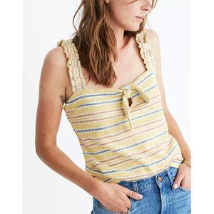 NWT Madewell Texture & Thread Tie-Front Tank Top S